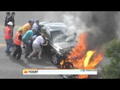 EQ Moment #6:  Bystanders Lift A Burning Car to Save a Man