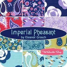Imperial Pheasant Fat Quarter Bundle Eleanor Grosch for Free Spirit Fabrics - Fat Quarter Shop