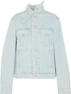 Balenciaga - Scarf Frayed Denim Jacket - Indigo