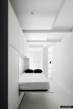 sistema de arrumação + cama embutida