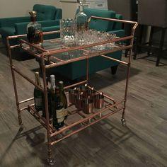 DIY Copper Pipe Bar Cart