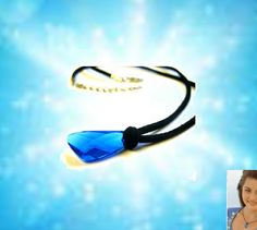 H2o necklace Pendant.  Inspired by tv show h2o just add water season 3. Blue swarovski crystal.