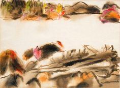 David Milne Down the River (Lake Baptiste), Haliburton, Ontario, c. October, 1945 Watercolour x Canadian Painters, Canadian Artists, David Milne, Down The River, American Art, Painting & Drawing, Printmaking, Amazing Art, Illustration Art