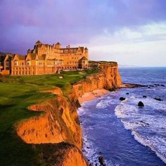Ritz Carlton Half Moon Bay, California. This hotel is beautiful, sits right on the coast.  I've stayed there numerous times as an event planner.