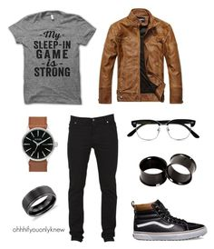 """Untitled #235"" by ohhhifyouonlyknew on Polyvore featuring Vans, Cheap Monday, Cutler and Gross, Blue Nile, casual, menswear, lgbt, dyke and tomboyfashion"