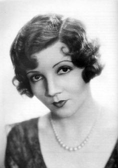 """Claudette Colbert, winner of the Best Actress Oscar (It Happened One Night, 1934).  Colbert was known as an expert screwball comedienne and was the biggest box-office star in 1938 and 1942. In 1999 the AFI voted Colbert the """"12th Greatest Female American Screen Legend""""."""