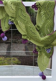 Ravelry: Fruity Fun Grape Scarf pattern by Alla Koval