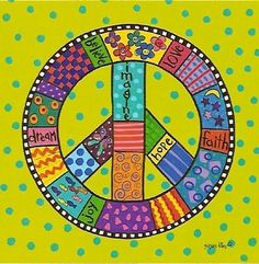 PATCHWORK PEACEprint from original painting by sptddog on Etsy, $20.00