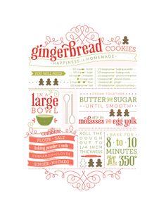 Gingerbread Cookies by Tiffany Breinholt, via Behance