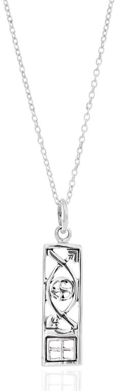 Sterling Silver & Blue Topaz Charles Rennie Mackintosh Pendant Necklace with 18