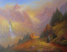 Gandalf And Beorn A Chance Encounter by jgilronan.deviantart.com on @deviantART