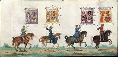 Albrecht Altdorfer (c. 1480 -1538), Hans Burgkmair (1473-1531), Albrecht Dürer (1471-1528) & others — Triumphal Procession, 1517 (1440x703)
