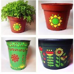 Pretty Painted Flower Pots | FaveCrafts.com