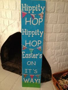 Easter sign Hippity Hop