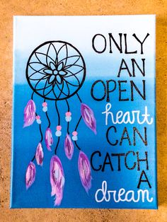 DIY Dorm Canvas Dreamcatcher painting canvas art, photo collages on canvas, love canvas painting Dorm Canvas, Big Canvas Art, Cute Canvas Paintings, Easy Canvas Painting, Diy Painting, Dorm Paintings, Canvas Quotes, Canvas Signs, Art Quotes