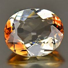 8.13 Ct.Champagne Imperial Topaz Oval Shape 13.9x11.7mm. Natural Gemstone