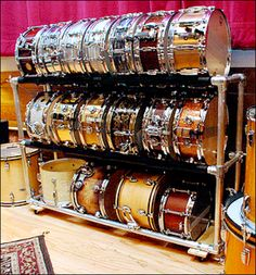 Snare Drum Display Rack is Do-It-Yourself Construct