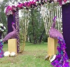 Wedding Ideas:Peacock Themed Indian Wedding Decor Peacock Wedding Decor: Beautiful and Impressive Backdrop Decorations, Indian Wedding Decorations, Wedding Themes, Flower Decorations, Wedding Ideas, Indian Decoration, Backdrop Ideas, Decor Wedding, Trendy Wedding