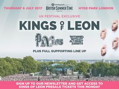 British SummerTime. Kings of leon, pixies