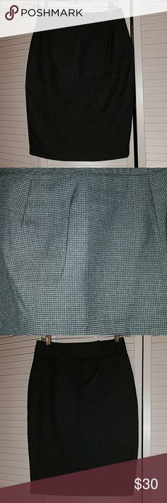//BCBG// - Gray and Black Pencil Skirt Gray and Black pencil skirt, BCBG Paris brand, size 2. Very elegant and comfortable. Only worn once. I accept offers. BCBG Skirts Pencil