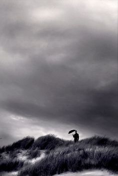 ♂ Solitude nature black and white photo La dune photography by Anne Friry