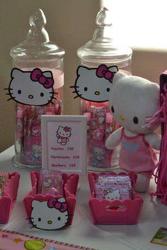 BusyMsDJ's Birthday / Hello Kitty - Photo Gallery at Catch My Party Hello Kitty Birthday Theme, Baby Girl Birthday, Cat Birthday, Hello Kitty Photos, Hello Kitty Themes, Decoracion Hello Kitty, Diy Birthday Banner, Birthday Ideas, Birthday Parties