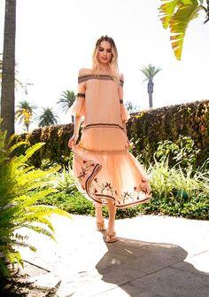 Rachel Zoe Spring 2017 Pink Flowy Dress