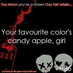 You Know Your A #GreenDay Fan When #36