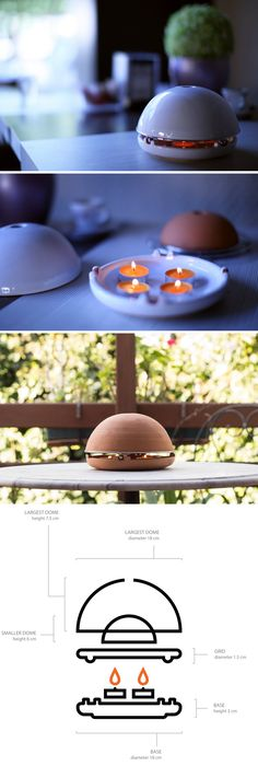 Egloo only uses regular tea light candles to generate heat that's powerful enough to raise the temperature of a large room by 2-3° in just half an hour. Made out of terracotta, this nifty device has two domes that trap the candle heat between them, releasing it through a small orifice on the top.