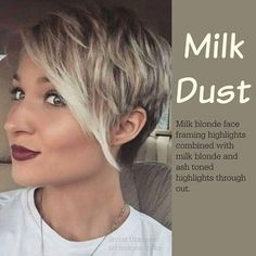 Hair style - Milk Dust :: milk blonde face framing highlights combined with milk blonde and ash toned highlights through out