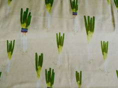 "My new favorite fabric.  I have to make a dress out of this!  Lecien's Kyo Yasai ""Spring Onion""."