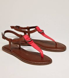 Cute two-color t-strap sandals from American Eagle - too bad I won't be able to wear these until April or May!