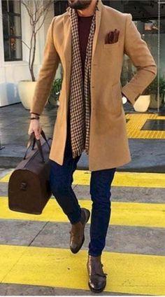 Herren Winter Fashion Look 2018 Best Mens Fashion, Mens Fashion Suits, Classy Mens Fashion, Feminine Fashion, Mens Suits, Winter Fashion Looks, Men Winter Fashion, Best Winter Outfits Men, Winter Style
