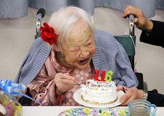 Mulher mais velha do mundo comemora 116 anos no Japão. Foto: Tomohito Okada/AFP