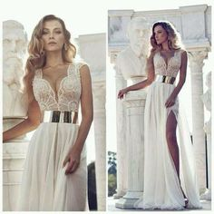 Classy Elegant Jumpsuits | dress wedding clothes formal prom gown ball elegant classy white dress ...