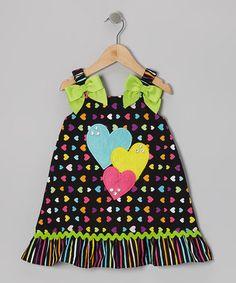 Take a look at this Black & Green Heart Dress - Toddler & Girls by Youngland on #zulily today!