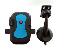 Sobetter Car Mount WindshieldDashboard Adjustable Cell Phone GPS Phone Stand Car Cradle Holder for iPhone Samsung HTC LG Smartphone Universal  Blue -- Visit the image link more details.