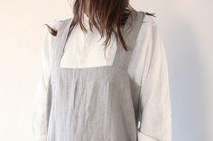 X Linen Apron, Textiles, Clothing, Collection, Outfit, Clothes, Cloths, Kleding, Fabrics