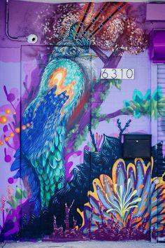 Ernesto Maranje street art in Florida, USA #streetart