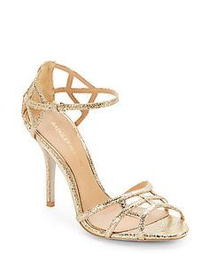 Kerrington Metallic Leather Strappy Sandals, badgley mischka off saks
