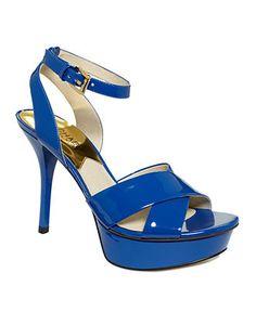 MICHAEL Michael Kors Shoes, Gideon Platform Sandals - Sandals - Shoes - Macy's