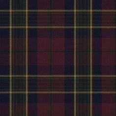 Regent Tartan Burgundy by Ralph Lauren Fabric Tartan Fabric, Red Fabric, Tartan Curtains, Tartan Plaid, Cotton Fabric, Burgundy Room, Scottish Decor, Cute Bedroom Decor, Decor Room