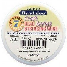 Beadalon 7 .018 30ft Bright   Price : $2.69