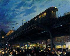 """""""Six O'clock, Winter"""" by John French Sloan (1912)"""
