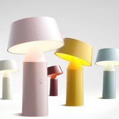 Lampe portable grise Bicoca - Marset - The Cool Republic Luminaire Design, Lamp Design, Home Lighting, Lighting Design, Cool Furniture, Modern Furniture, Console, Berlin Design, Lampe Decoration