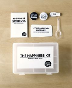 the happiness kit | Bravo Company Soft serve ice-cream #clever #branding #packaging PD