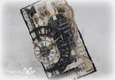 Hello Everyone! Well, it's time for another challenge over at Crafty Cardmakers and More! This time around our lovely hostess Vania has . Steampunk Cards, Texture Paste, Masculine Cards, Cool Cards, Hello Everyone, Mixed Media Art, Challenges, Homemade, Crafty