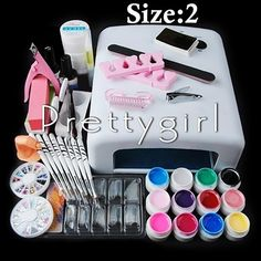 Nail Tool Kit with Gel Polishes. Beautiful Nails!