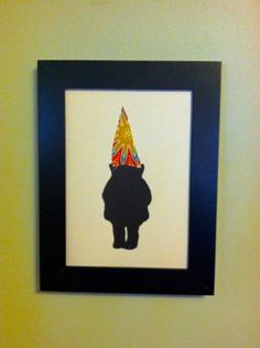 Items similar to Single Gnome Framed Silhouette Art on Etsy 5x7 Frames, Frames On Wall, Framed Wall, Silhouette Art, Custom Art, Make You Smile, Gnomes, Dapper, Beast