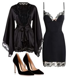 A fashion look from July 2015 featuring robe lingerie and high heel shoes. Browse and shop related looks. Jolie Lingerie, Lingerie Outfits, Pretty Lingerie, Women Lingerie, Luxury Lingerie, Classy Outfits, Sexy Outfits, Casual Outfits, Cute Outfits